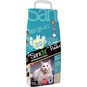 SANICAT PROFESIONAL OXYGEN POWER Arena para gato antibacterias con oxígeno activo Bolsa 10 l