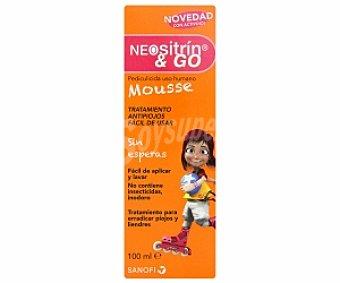 NEOSITRIN & GO Mousse antipiojos sin esperas con activdiol 100 Mililitros