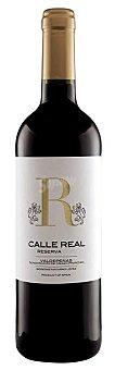 Valdepeñas Vino tinto reserva con denominación de origen calle real Botella de 75 cl