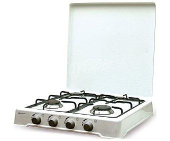 Orbegozo Cocina de sobremesa a gas, independiente FO 4500/4550, 4 fuegos, Ancho: 50.5cm, Alto: 90cm, Longitud: 55.5cm fuegos, Ancho: 50.5cm, Alto: 90cm, Longitud: 55.5cm