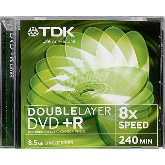 TDK Disco Dvd+r grabable doble capa 8,5 GB 8x 240 mit