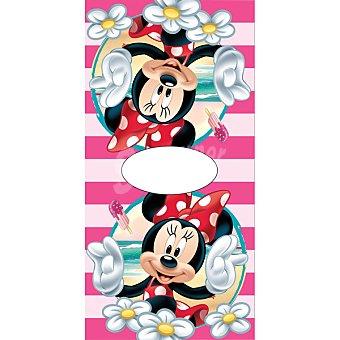 Disney Poncho infantil de Minnie con rayas rosas 1 Unidad