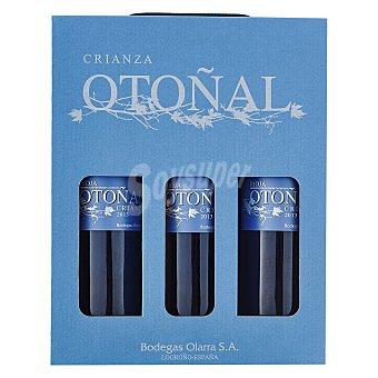 """Otoñal Estuche de vino D.O. Ca. """"rioja"""" tinto crianza Pack 3x75 cl"""