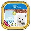 Comida perro pate buey y leche junior razas pequeñas Tarrina 150 g Bobby