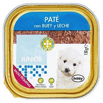 Bobby Comida perro pate buey y leche junior razas pequeñas Tarrina 150 g