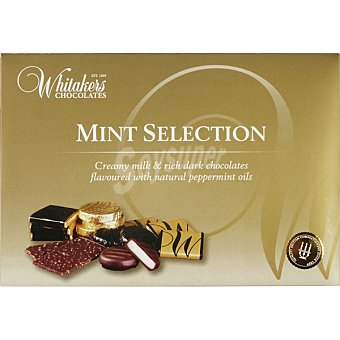 Whitakers Mint Selection con chocolate y menta de Inglaterra caja 225 g caja 225 g