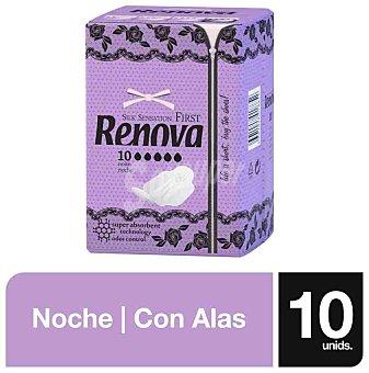Renova Compresa first noche con alas Paquete 10 u