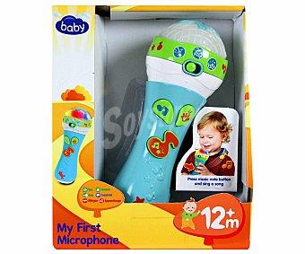 BABY Mi primer Micrófono son Sonidos y Colores 1 Unidad