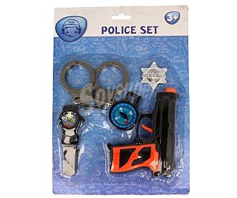 Productos Económicos Alcampo Conjunto de juguetes de policía, incluye 5 accesorios 1 unidad