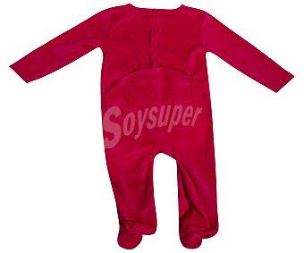 Disney Pijama pelele de bebe aterciopelado Minnie Mouse, color rojo, talla 74