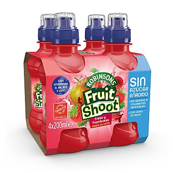 FRUIT SHOOT refresco de fresa sin gas pack 4 botella 20 cl