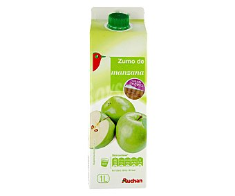 Auchan Zumo de manzana verde 1 litro