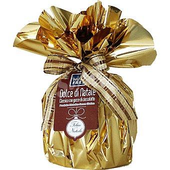 NUTRIFREE DOLCI Dulce de Navidad Panettone de chocolate sin gluten Envase 500 g