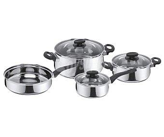 Magefesa Batería 7 piezas de olla de cocina de acero inoxidable magefesa Deliss