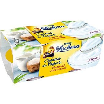La Lechera Nestlé Crema de yogur natural azucarado Pack 4 unidades 125 g