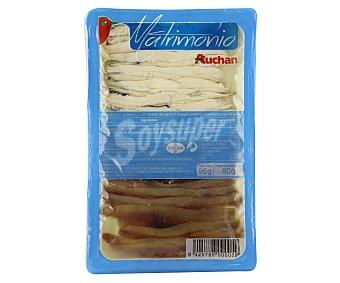 Auchan Anchoas y boquerones en aceite de girasol 80 gramos
