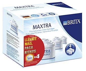 Brita Filtros purificantes Maxtra, 30 días/filtro (150 litros/filtro) 4 unidades