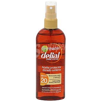 Delial Garnier Aceite protector dorado sublime FP-20 con karite nutritivo resistente al agua con karite nutritivo Spray 150 ml