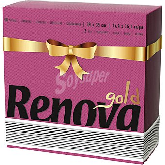 Renova Gold servilleta Burdeos 2 capas 39x39 cm paquete 40 unidades Paquete 40 unidades