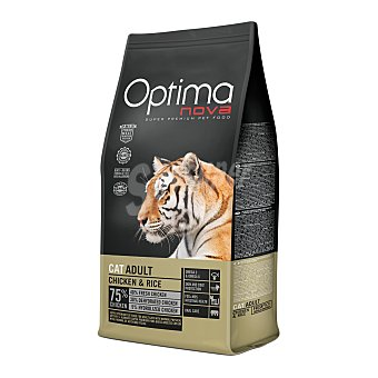 Optima Nova Pienso para gatos adultos óptima Nova pollo y arroz 400 gr 400 gr