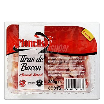 Monells Tiras de bacon ahumado natural 200 G 200 g