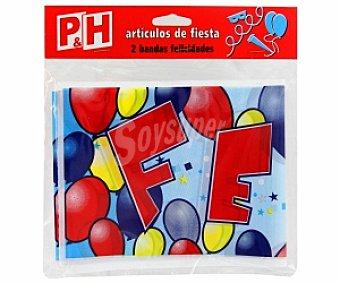P & H Bandas de felicidades 2 Unidades