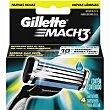 Cargador de afeitar Pack 4 unid GILLETTE Mach3