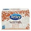 Infusión de canela y naranja en bolsitas Warmth 20 ud Tetley