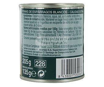 Auchan Yemas de espárrago 10/16 piezas Lata de 135 gramos