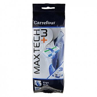 Carrefour Maquinilla desechable maxtech 3+ 8 ud 8 ud
