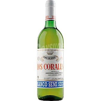 LOS CORALES Vino blanco semiseco botella 75 cl