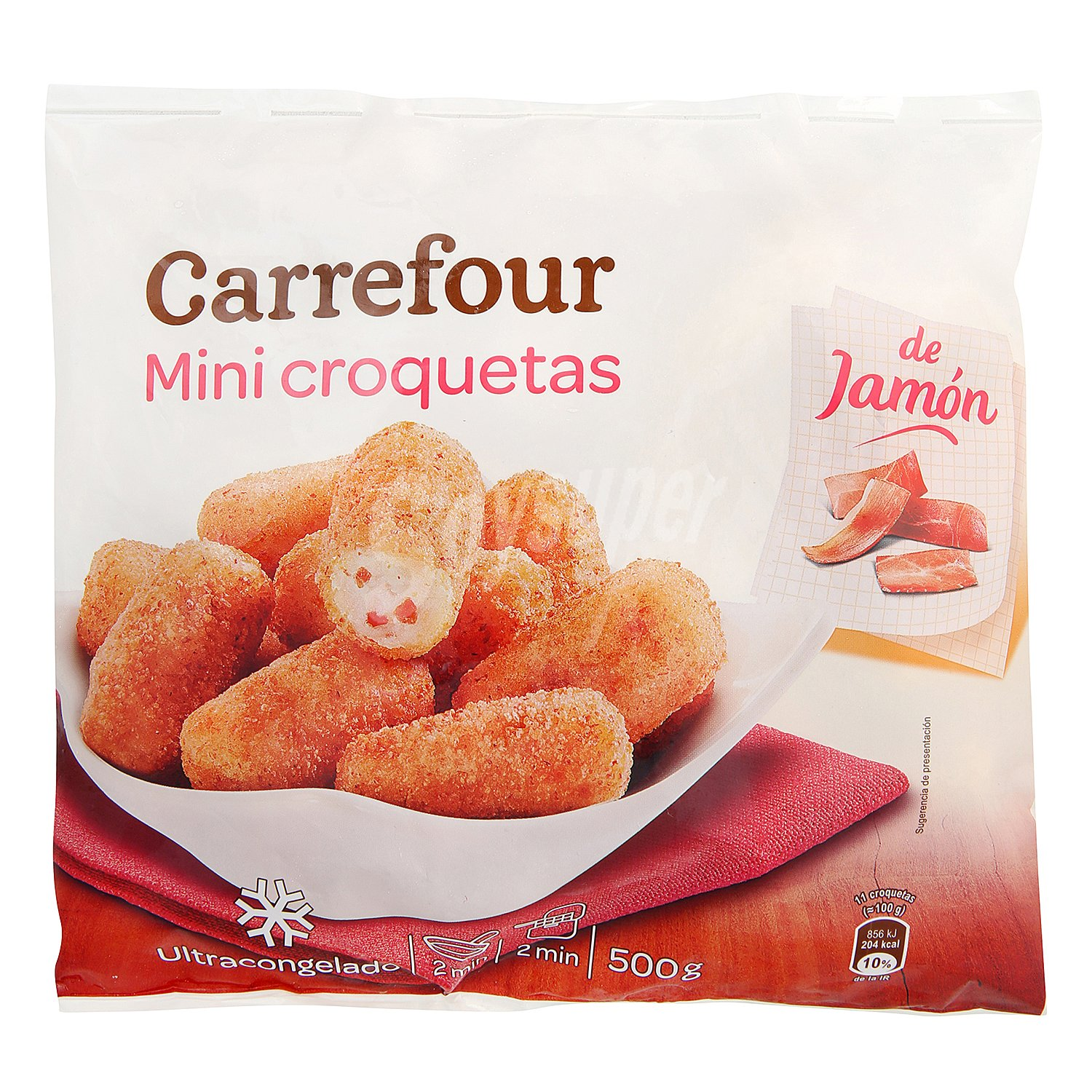 carrefour mini croquetas de jam n 500 g. Black Bedroom Furniture Sets. Home Design Ideas