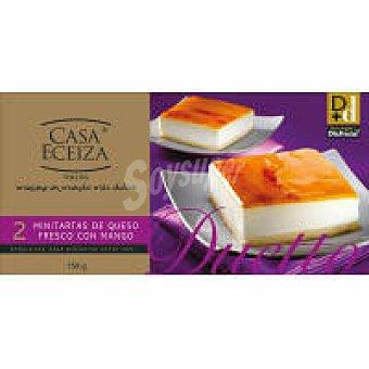 Casa Eceiza Minitartas de queso con mango Duetto Pack 2x75 g