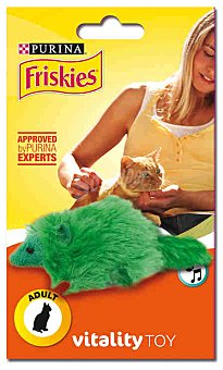 Friskies Purina Juguetes para Gatos Adultos Ardilla de Peluche 1 ud