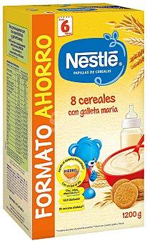 Nestlé Papillas Papilla 8 Cereales con galleta María 1200 Gramos