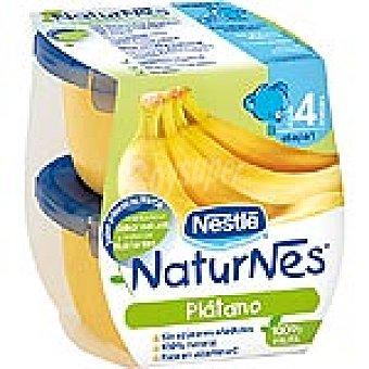 Naturnés Nestlé Tarrito de plátano 100% fruta sin azúcares añadidos +4 meses envase 260 g Pack 2 x 130 g