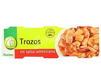 Productos Económicos Alcampo Calamares en salsa americana Pack 3 unidades de 51 gramos
