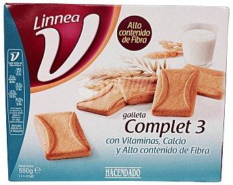 Hacendado Galleta tostada complet 3 ( linnea v ) Paquete de 550 g