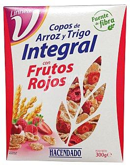 HACENDADO Cereal copos trigo integral frutos rojos Paquete de 300 g