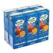 Frutas+leche mediterraneo (brick azul) 6 x 200 cc Hacendado
