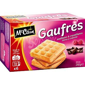 Mc Cain Gaufres tiernos y crujientes estuche 240 g 6 unidades