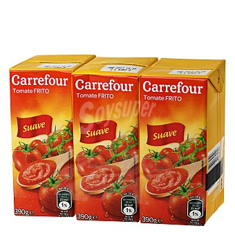 Carrefour Tomate frito suave 3 envases de 390 g