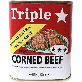 TRIPLE ESTRELLA Corned beef Lata 340 g