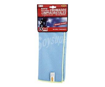 RM Gamuza de 40 x 35 centímetros, de color azul fabricada en microfibra y especial para la limpieza de cromados y cristales clean clean