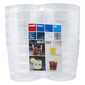 Nupik Vaso transparente 330 cc paquete 10 unidades Vaso 330 cc