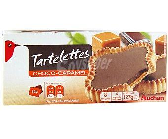 Auchan Tartaletas de chocolate con leche y caramelo 127 gramos