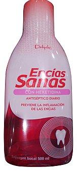DELIPLUS Enjuague bucal encías sanas (previene sangrado e inflamación de encías) Botella 500 cc