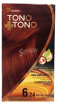 AZALEA Tinte coloración tono sobre tono n 6.74 marrón cobrizo 1 unidad