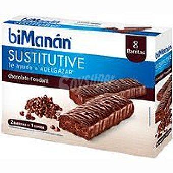Bimanan Barritas de chocolate negro Fondant Caja 8 unid