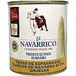 Yemas de espárragos blancos extra gruesas IGP Espárrago de Navarra Lata 135 g neto escurrido El Navarrico